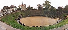 Roman Amphitheatre at Avenches, western Switzerland
