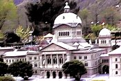 Berne, Switzerland: Bundeshaus (Seat of the Swiss government) 