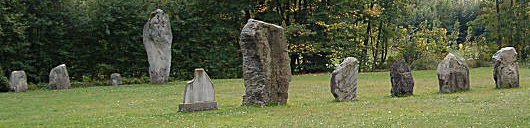 Megalithic Menhirs in Yverdon, Switzerland